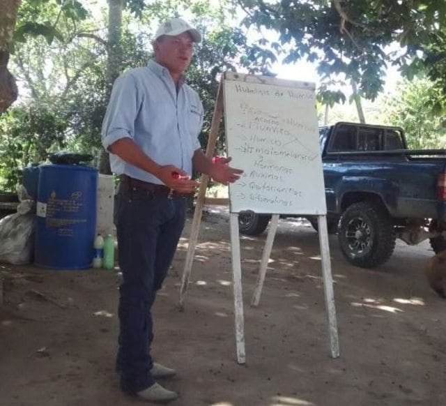 Engineer instructs coffee farmers on organic farming