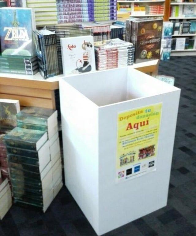 Book collection bin