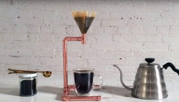 VIDEO: Make a DIY Pour Over Brewer Out of Copper or Iron Pipes