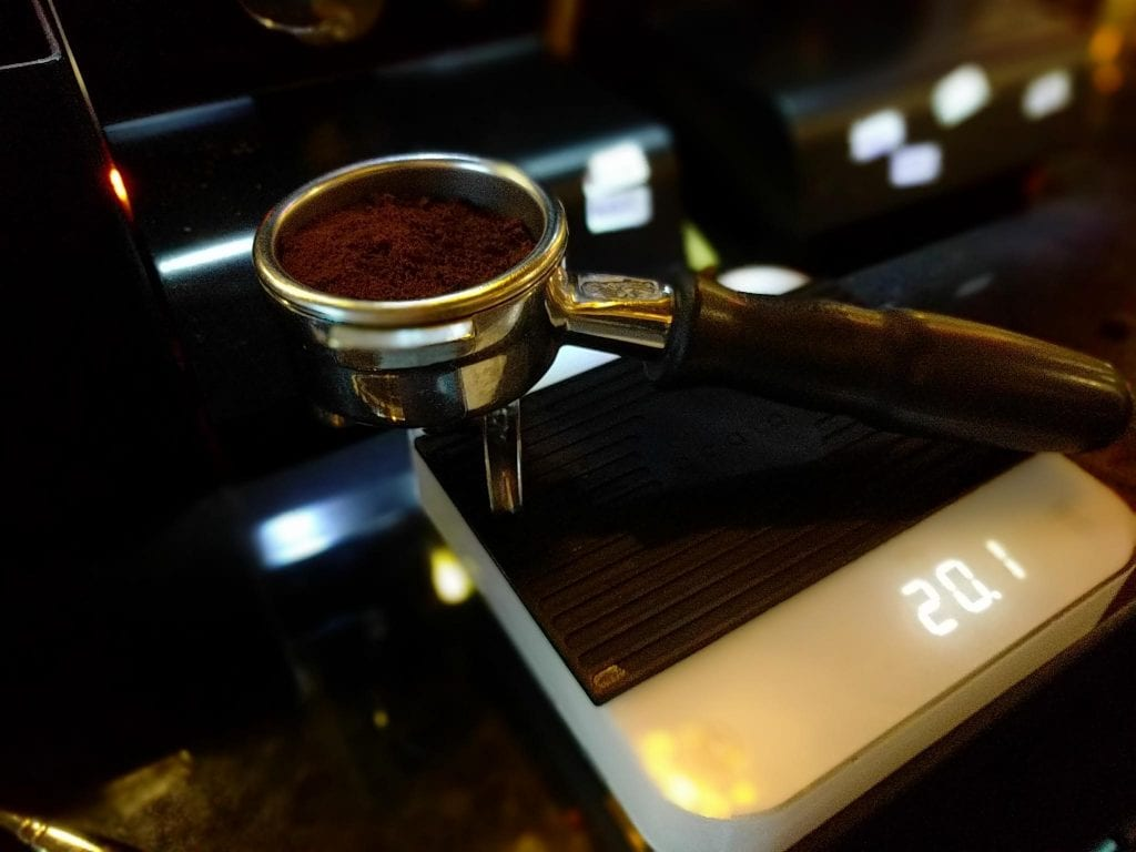 Coffee on scales