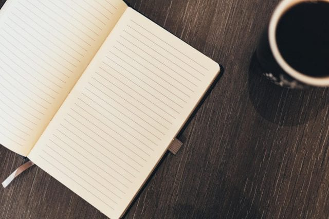 coffee and notes
