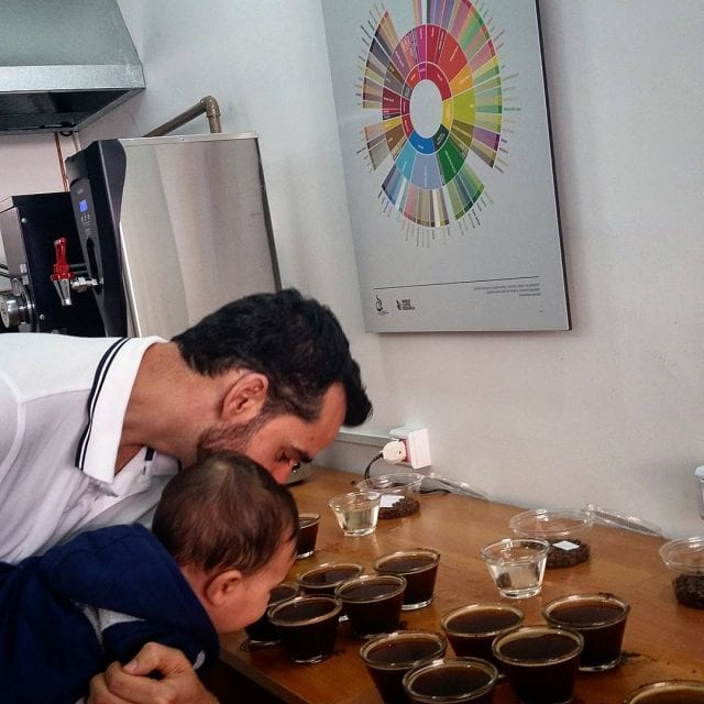 coffee cupping baby