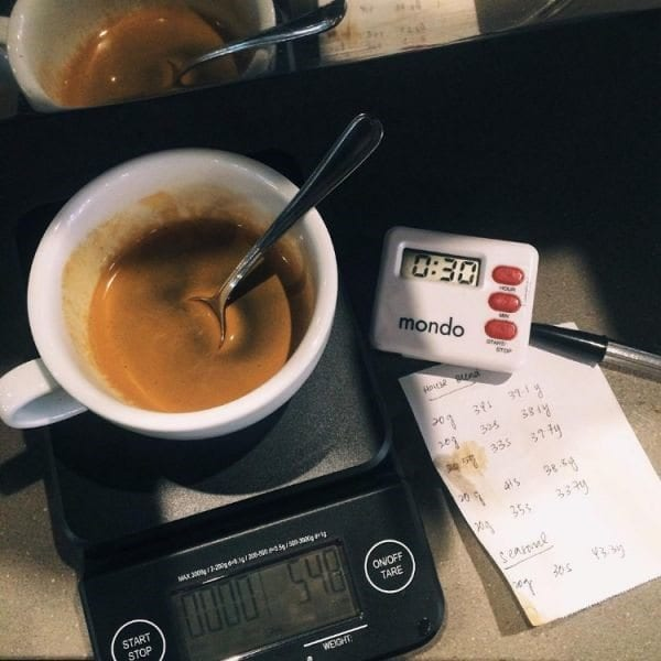 receta de espresso