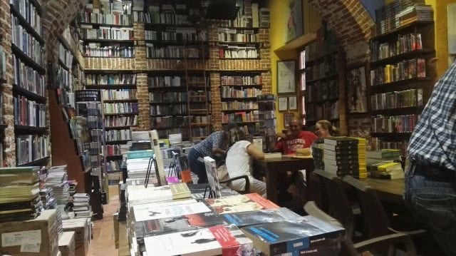 coffee shop and books