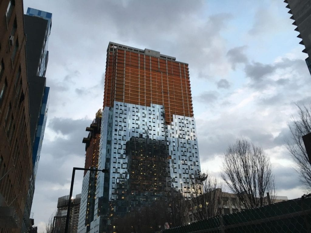 Skyscraper being constructed in Long Island City
