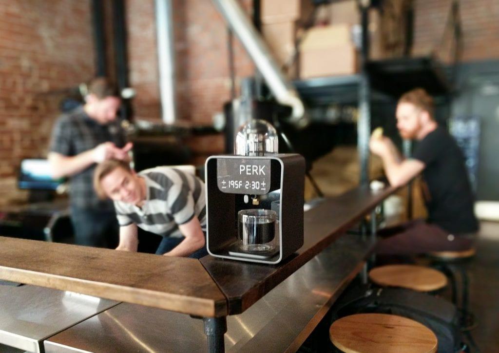 PERK coffee machine in roastery