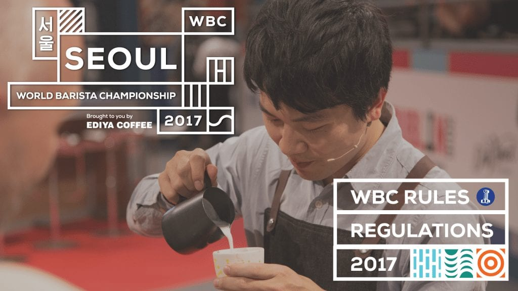 World Barista Championship graphic for rules change