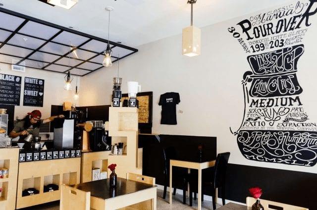 cafeteria de cafe de especialidad