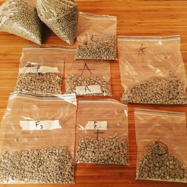 granos de cafe en verde