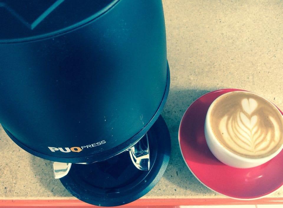 puqpress and coffee