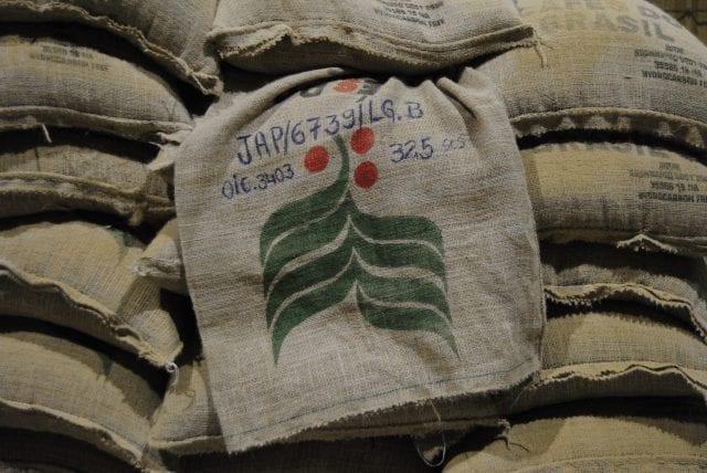 saco de cafe de brasil