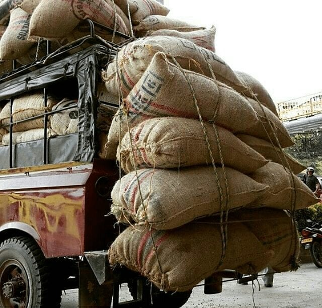 sacos de cafe listos para exportacion