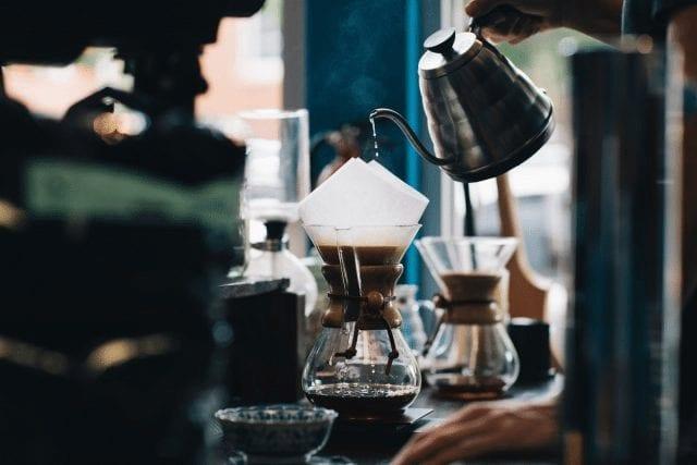 cafe preparado en chemex