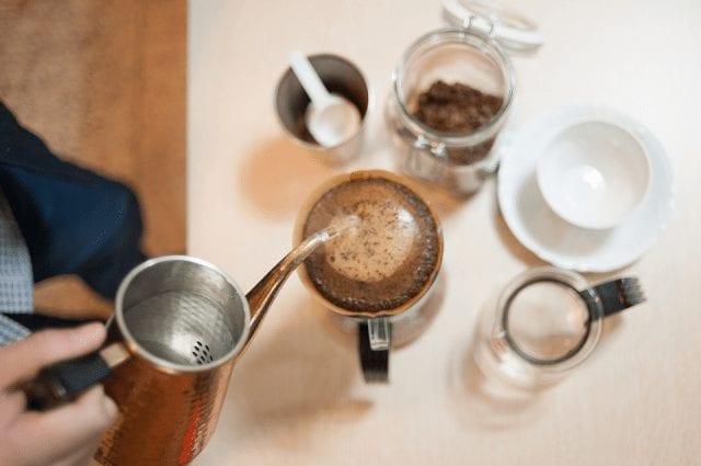 cafe en metodo de vertido