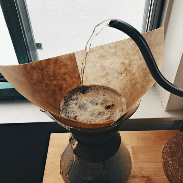 filtros de cafe crudo
