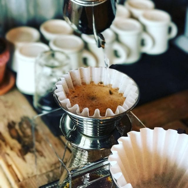 Coffee Brewed On A Kalita Wave Using Bleached Filter Credit The Cappuccino Traveler