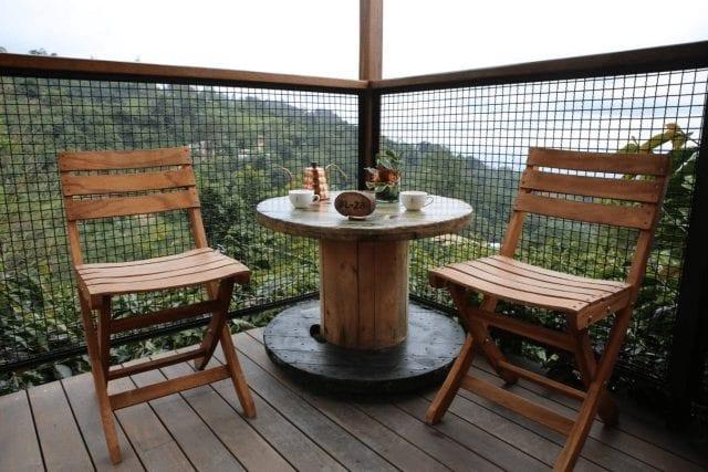 cafe en el balcon