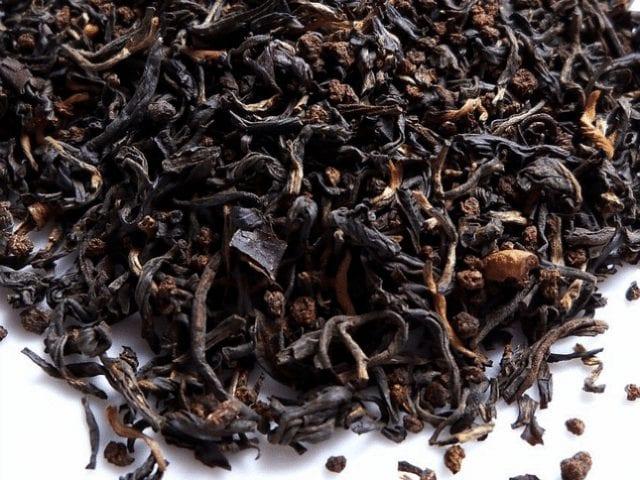 hojas de te negro