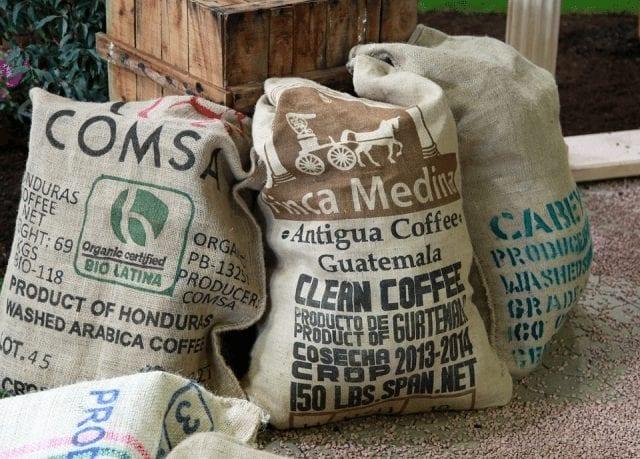 Bolsas de café para exportar