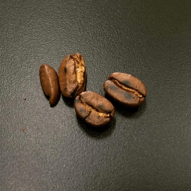 Defecto café quemado