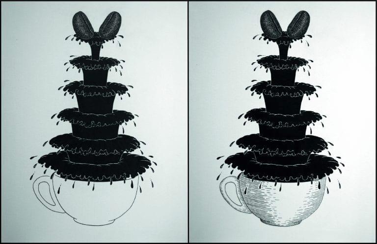 Dibujo de Fuente de café