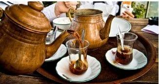 Sirviendo Café turco