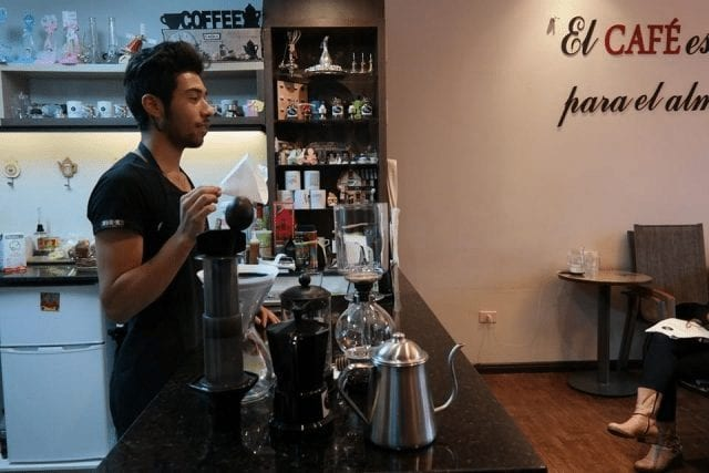 barista en paraguay