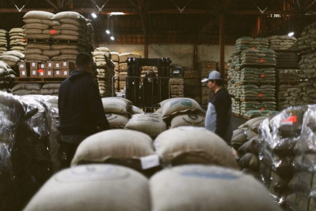 Café para exportar