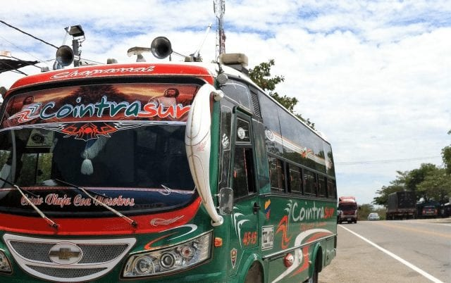 Bus equipado para viajar