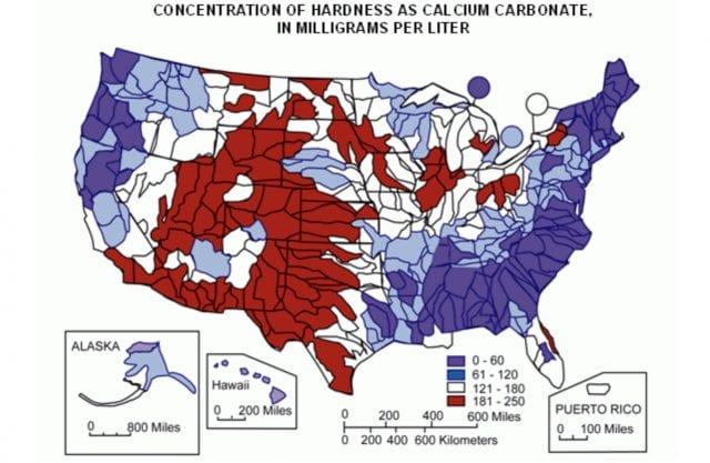 Mapa de EEUU del agua
