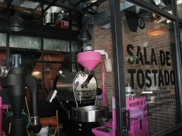 Roastery in a coffee shop