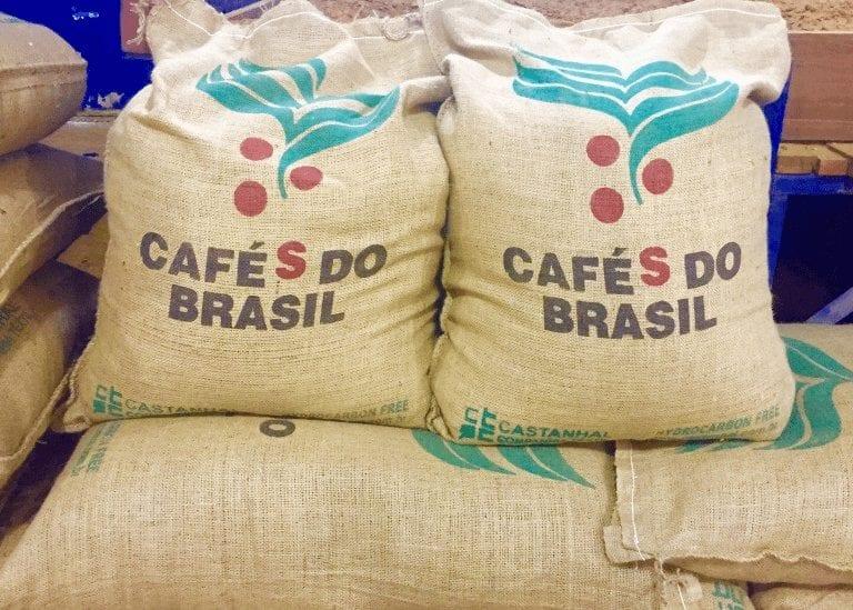 Sacos de café de Brsil