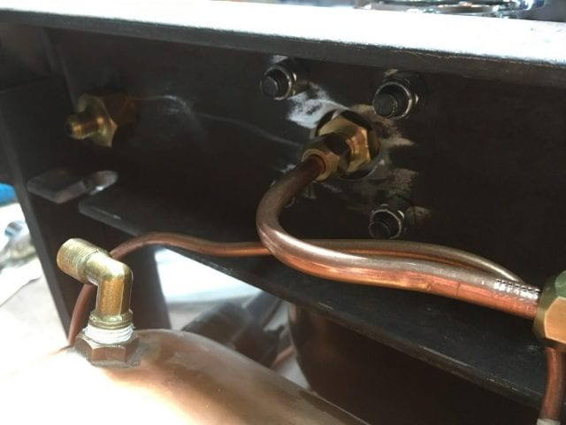 Newly routed pipes