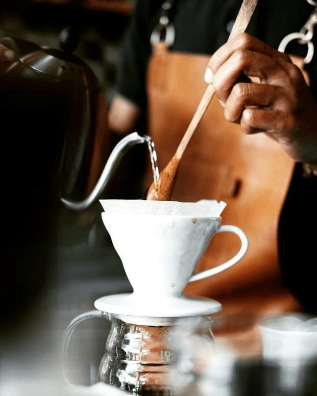 agitacion del cafe