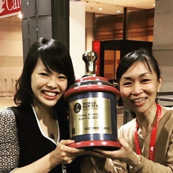 ganadora de campeonato de cafe