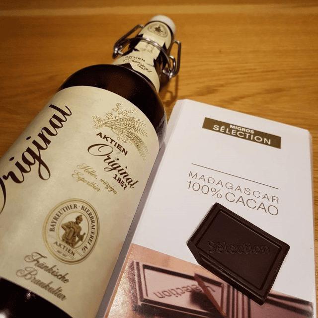 cerveza y chocolate