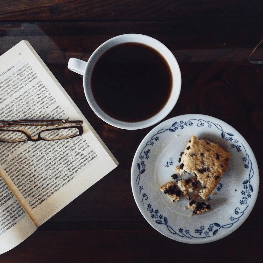 cafe y pastel