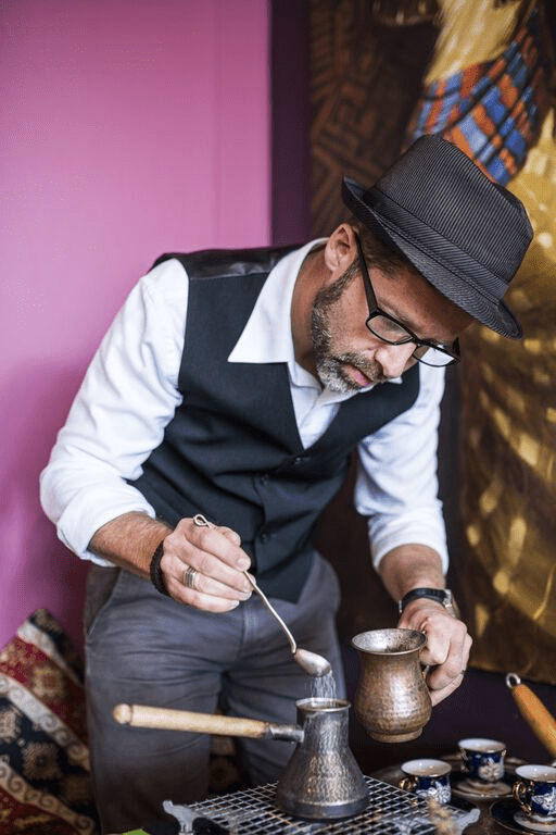 preparacion de cafe turco