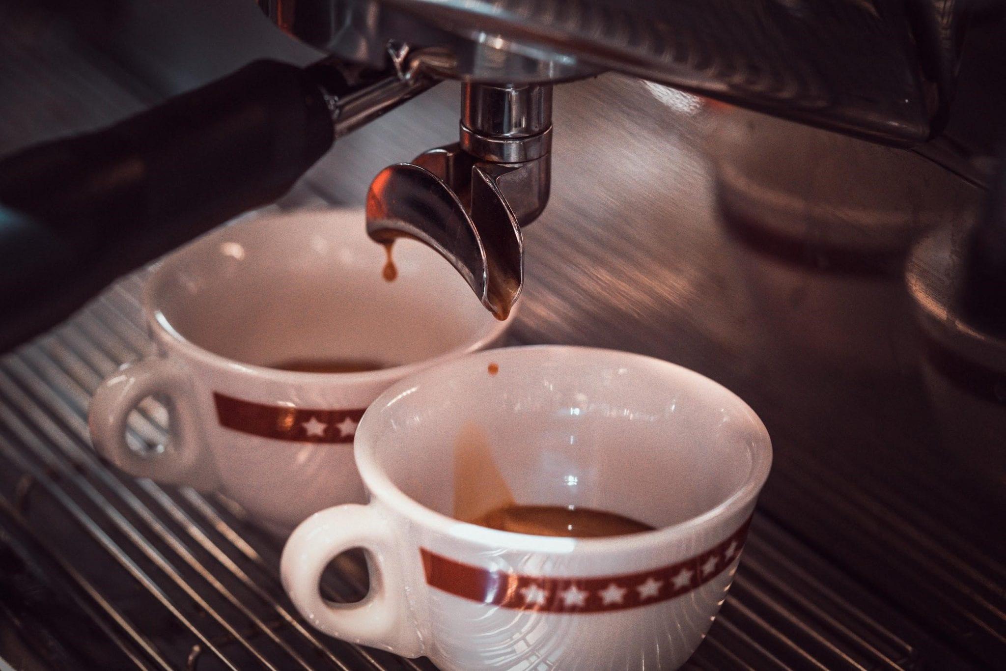 pulling espressos