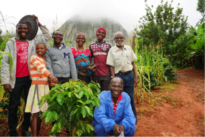 The Nyakuchena family on their small-scale Arabica coffee farm