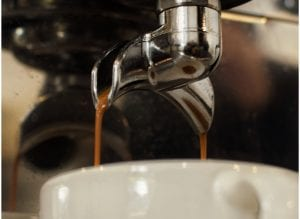 brewing shots of espresso