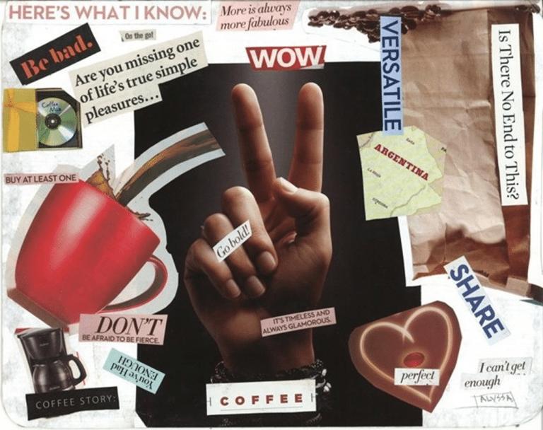 poster de informacion de cafe