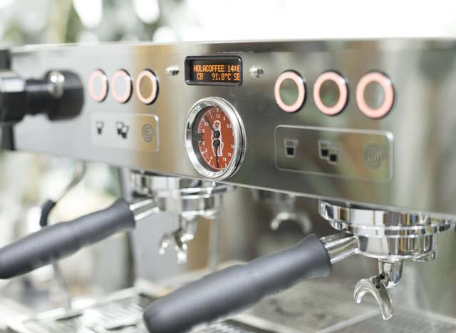 maquina espresso lista para trabajar