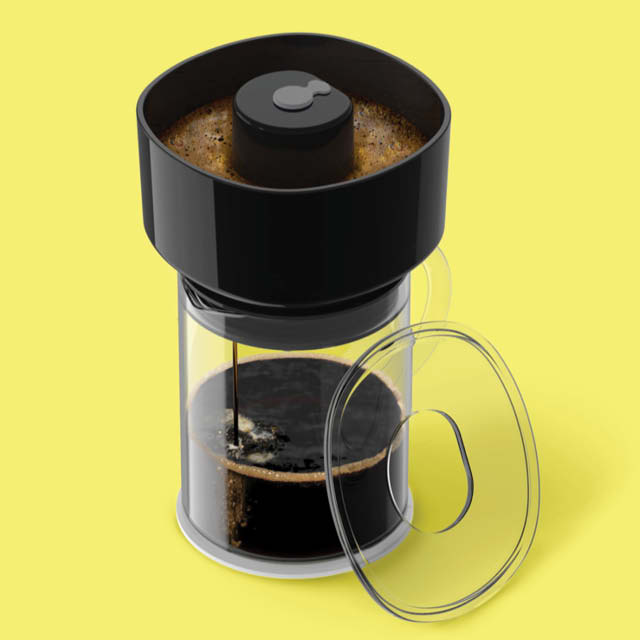 A FrankOne coffee brewing device.