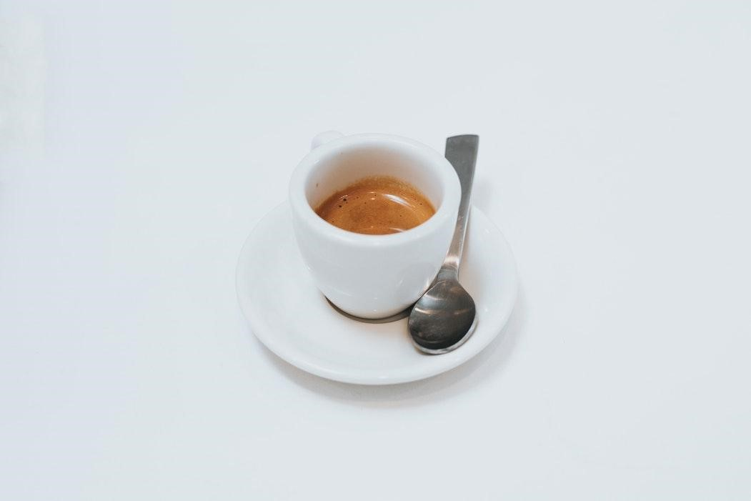 a shot of espresso ready to drink