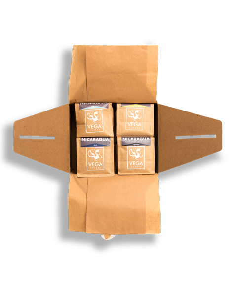 A gift box of VEGA coffee.