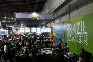crowd at the world coffee championships in brazil