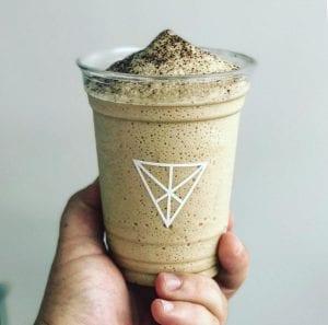 frozen latte in to go cup