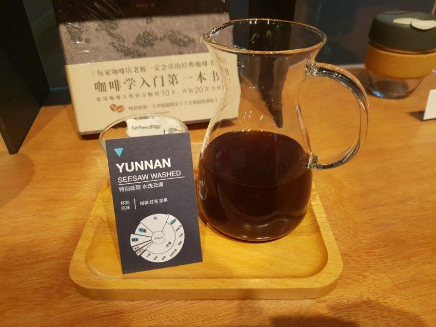 cafe de filtro recien preparado