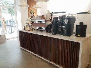 coffee bar at coffee shop